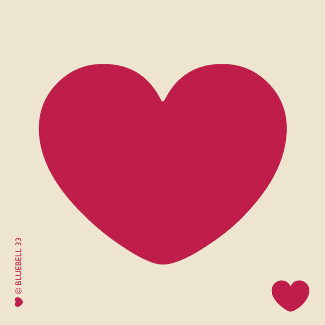 Placemat Red Heart