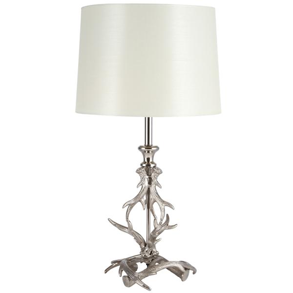 Antler Table Lamp Nickel